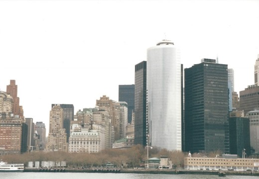 Lower Manhattan from the Staten Island Ferry, December 25, 2011