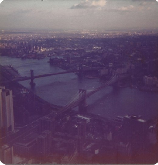 View from the World Trade Center, December, 1987.