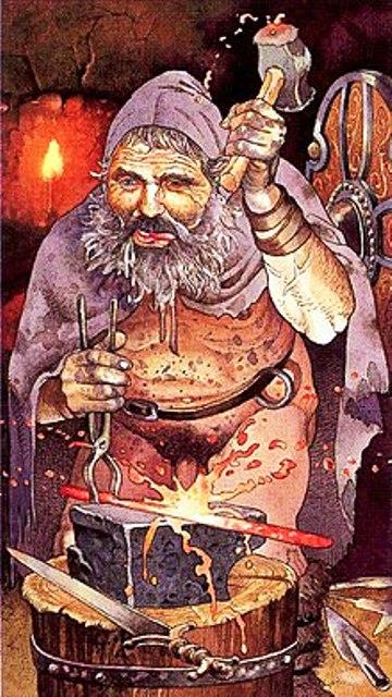 Goibniu - or Goibhniu - the underworld smith, Gallic and Gaelic equivalent of Andvari in Norse mythology