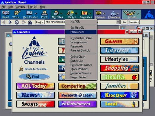 In 2001, AOL had over 28 million members and was the most popular website.