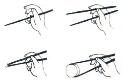 The Easy Steps to Holding Chopsticks