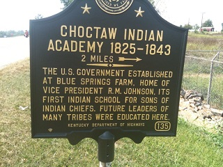 Sign for the historic Choctaw Academy