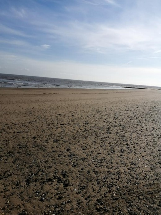 A photo of the beach at Gibraltar Point, Lincolnshire.