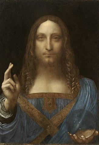 Salvator Mundi by Leonardo da Vinci (c. 1500) - the most expensive painting to date.