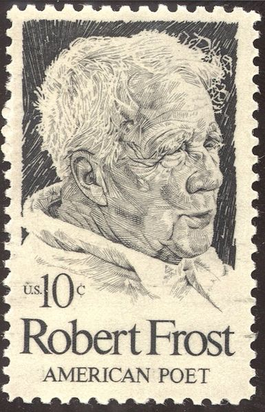 U.S stamp issued for the centennial of the poet Robert Frost.