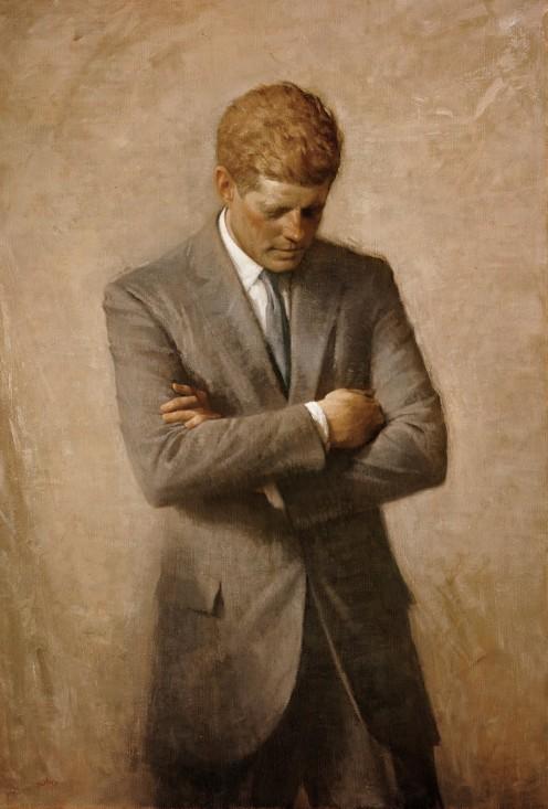 Aaron Shikler, Posthumous official presidential portrait of U.S. President John F. Kennedy, The White Historical Association