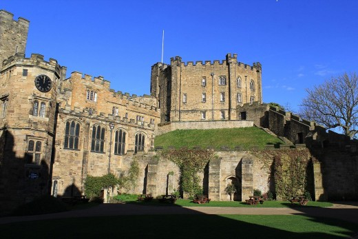 In the Land of the Prince Bishops - Durham Castle, like Lincoln, was not bashed about by Cromwell's army due to their proximity to the cayhedrals.