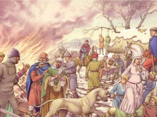 The Harrying of the North, 1069-70. William failed to stop the aetheling Eadgar and the young earls from crossing the Tees to safety, he took to destroying homes, crops and livestock over much of Yorkshire, Cheshire, Lincolnshire and Shropshire