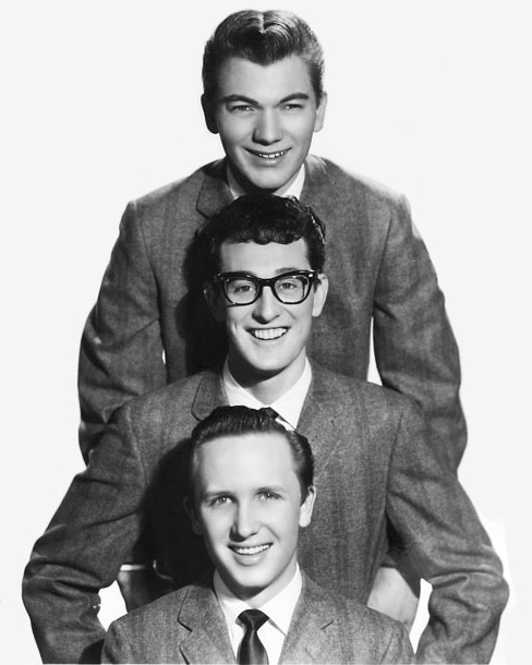 Buddy Holly and the Crickets  in 1957 top to bottom  Allison, Holly and Mauldin.