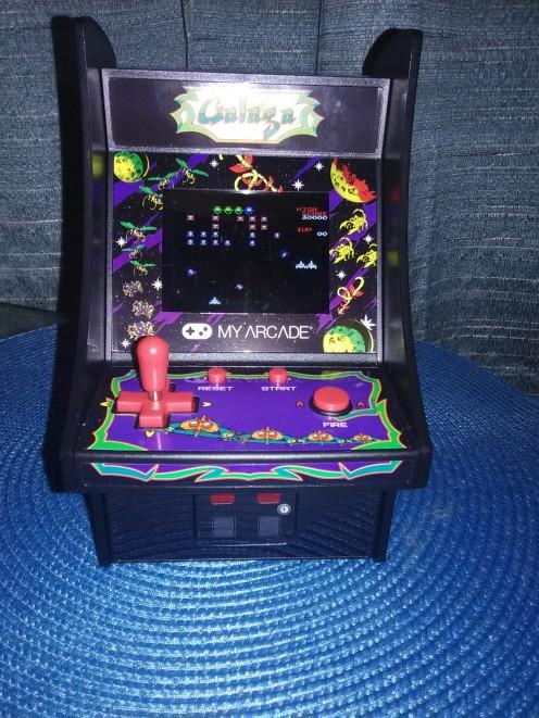 A Miniature Of The 'Galaga' Arcade Game