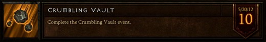 The Crumbling Vault event achievement.