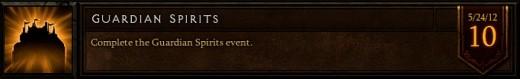 The Guardian Spirits event achievement.