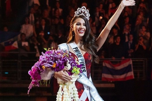 Miss Universe Catriona Gray from the Philippines...