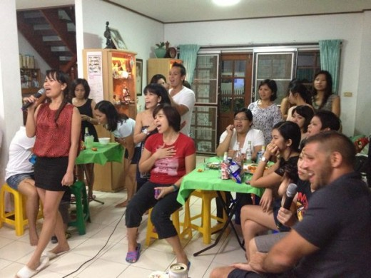 Karaoke is a favorite Filipino past time. They just love disturbing their neighbors...although there is a law now that limits karaoke until 10pm