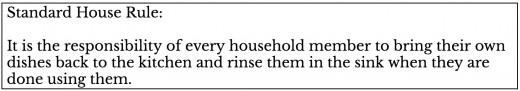 Standard House Rule.