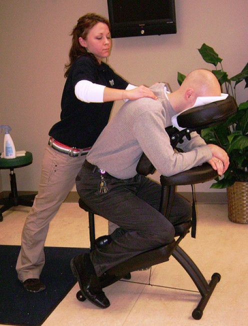 Massage therapist careers: Onsite / corporate chair massage