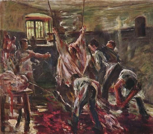Abattoir by Lovis Corinth