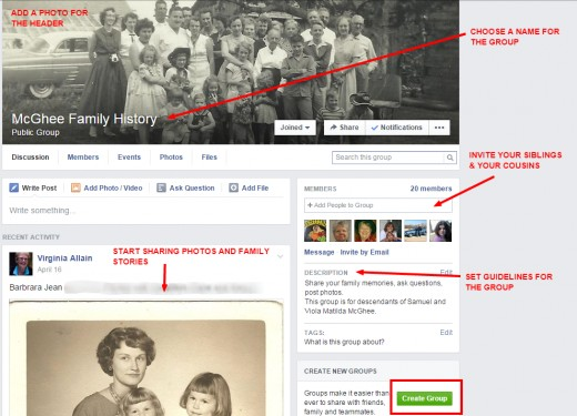 I have 4 cousins' groups on Facebook and regularly post my blog links there.