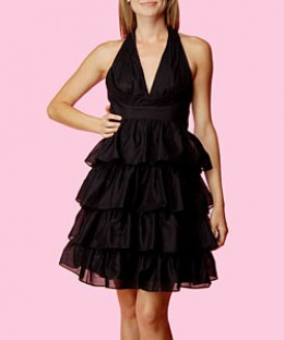 Betsey Johnson Tiered Voile Ruffle Dress cost $385 Betseyjohnson.com