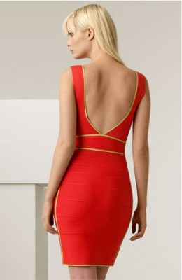 This Herve Leger Border Trim Knit Dress is available at Nordstoms