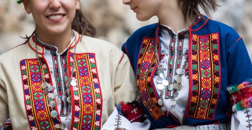 Bulgarian folk costume illustrating embroidery work.