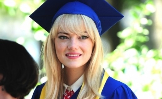 Gwen Stacy's speech at her high school graduation inspires Peter later to not give up on being Spider-Man.