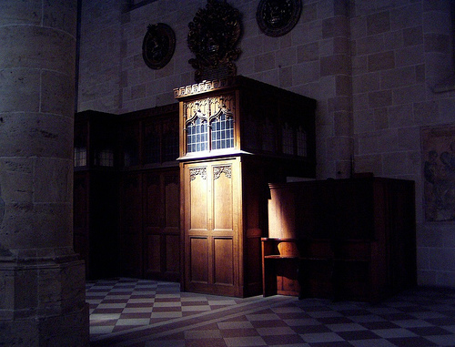 The Librarian's confessional booth