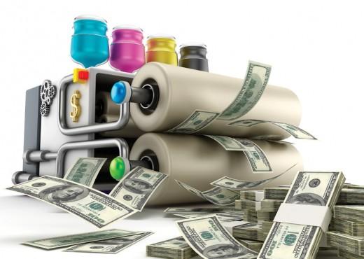 Central Banks Printing Press