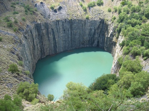 Kimberley diamond mine of South Africa