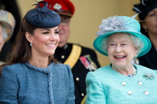 Kate Middleton, Duchess of Cambridge and Queen Elizabeth