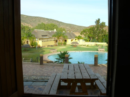 The outdoor pool, Calitzdorp Spa