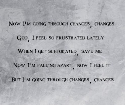 Going Through Changes - Poetry About Co-dependency In A Narcissistic Relationship