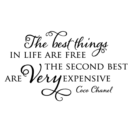 A quote by Coco Chanel, found at wallquotes website