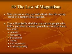 Laws of Magnetism: The Catalyst for Negative Work Experience