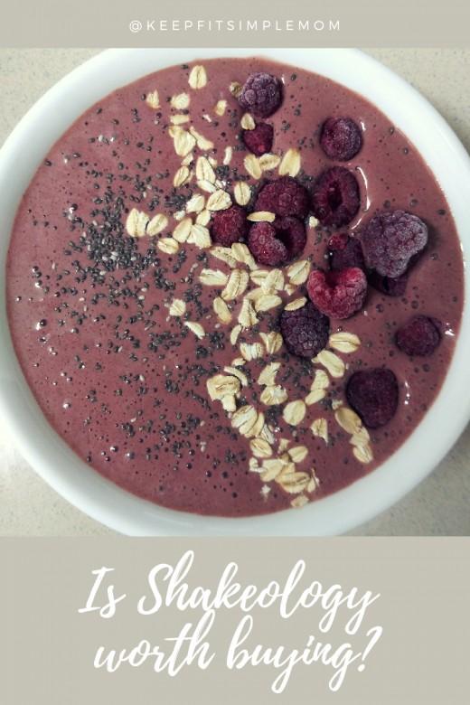 Chocolate Raspberry Shakeo Bowl