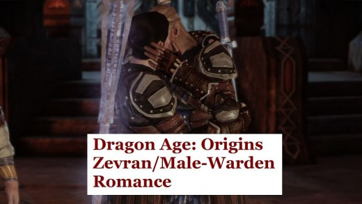 Zevran kisses an elven male Warden.