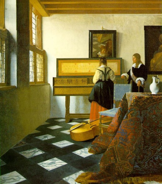 """The Music Lesson"", by Jan Vermeer"