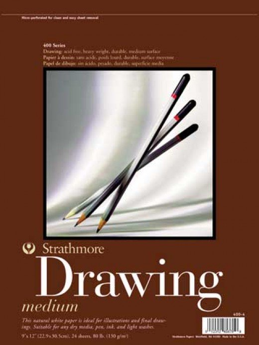 Good quality medium paper surface, ideal for drawing and sketching.