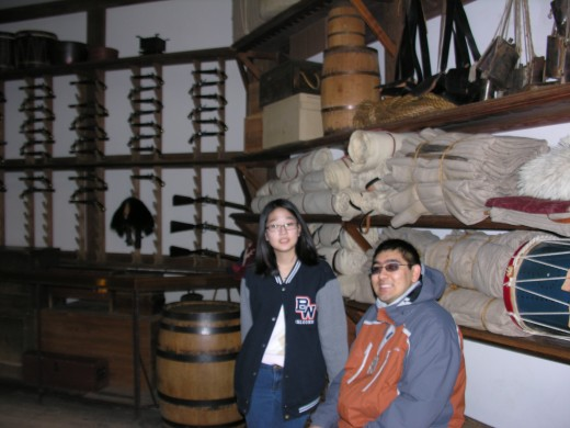 Inside the armory, Colonial Williamsburg, November 2014.