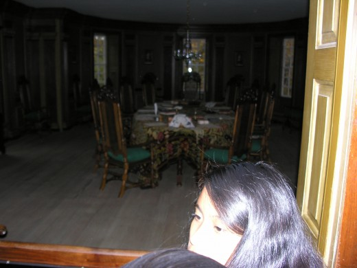 A dining room inside the Capital Building, November 2014.