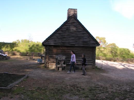 The Colonial Era farm at the Revolutionary War Museum at Yorktown, November 2014.