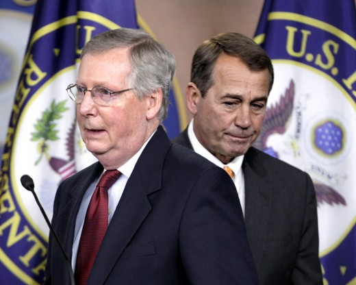 Mitch McConnell and John Boehner, at one time the most powerful men of the Republican Party