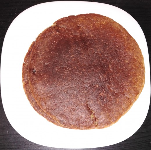 Oat pancake is both nutritious and healthy.