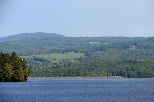 Moore Reservoir on the Connecticut River, New Hampshire/Vermont, United States