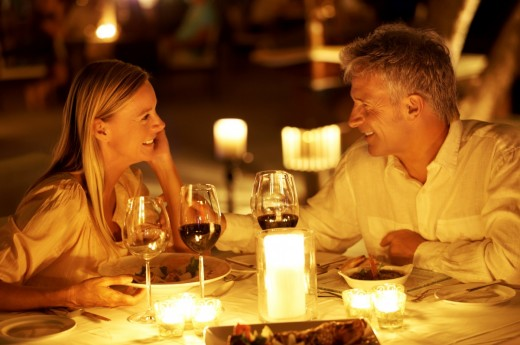 Romantic meals - always served with quality Franconian wine
