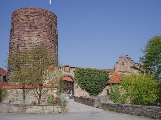 Entrance to Saaleck Castle