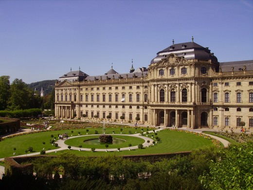 View of the gardens at Würzburg's Residence Palace - a UNESCO World Heritage Site
