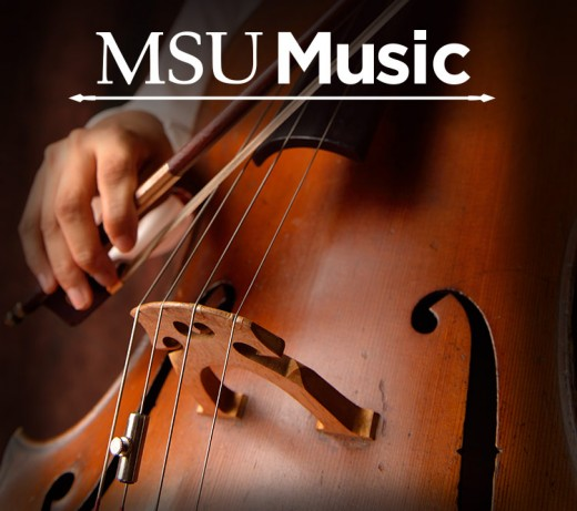 Poster advertising MSU's own symphony orchestra, also playing at Wharton Center