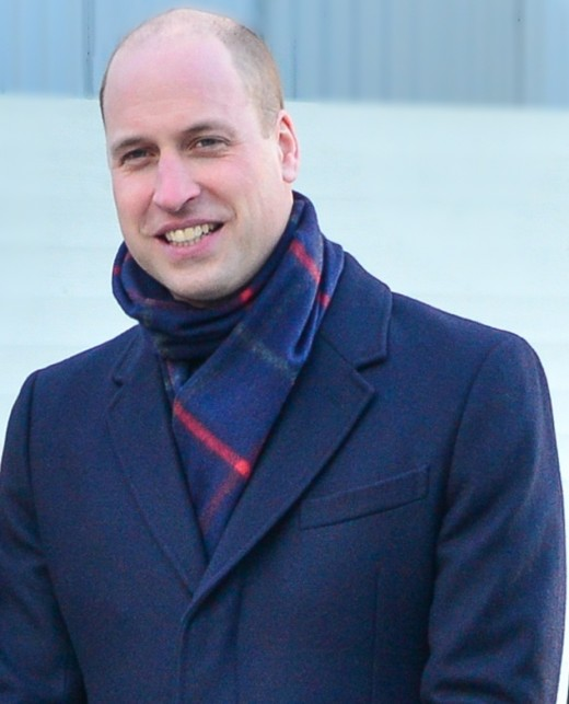 Prince William doesn't have red hair but he is balding.