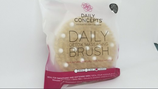 My least favorite item was the Daily Concepts Daily Detox Brush.